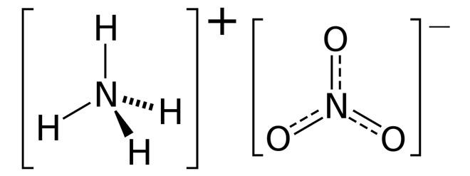 химическая формула аммиачной селитры