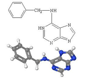 Структурная формула 6-бензиламинопурина