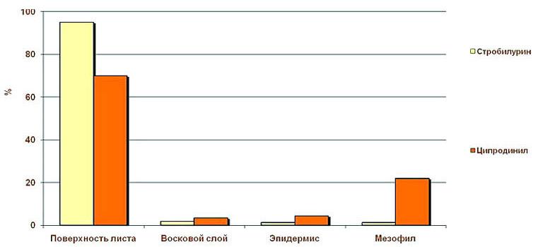 Особенности накопления действующего вещества Хоруса в растениях