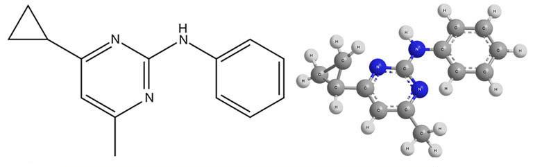 Химическая формула действующего вещества фунгицида Хорус