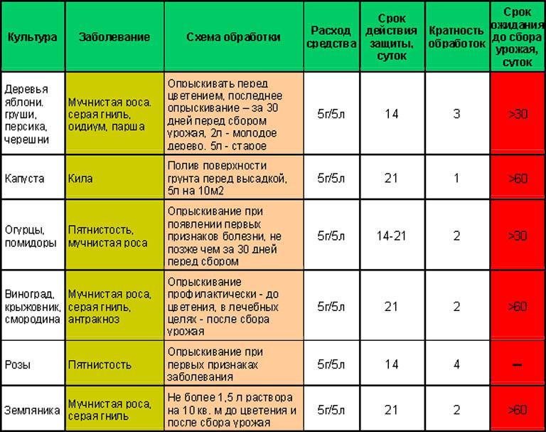 Нормы и схемы применения Фундазола для растений открытого грунта