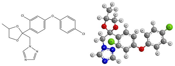 химическая формула действующего вещества фунгицида Скор