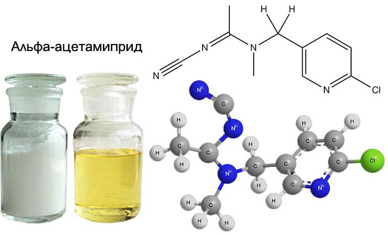 Действующее вещество инсектицида Моспилан α-ацетамиприд