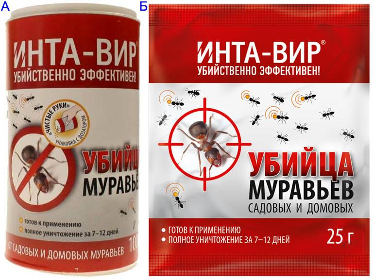 Препарат Инта-Вир от муравьев