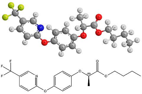 Химическая формула флуазифоп-п-бутила