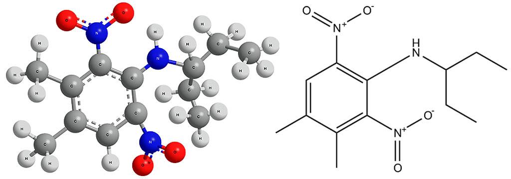 Химическая формула пендиметалина.