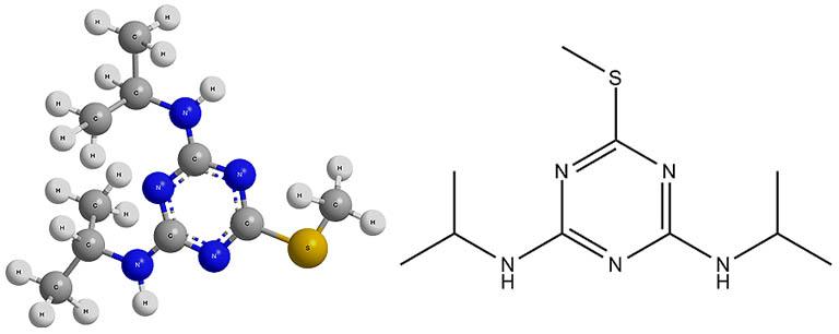 Химическая формула перметрина и ее пространственная модель