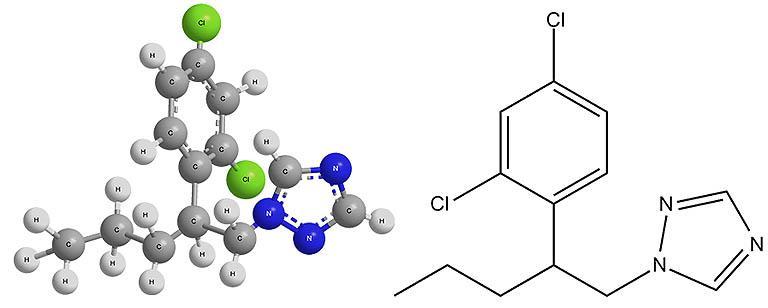 Химическая формула пенконазола - действующего вещества фунгицида Топаз