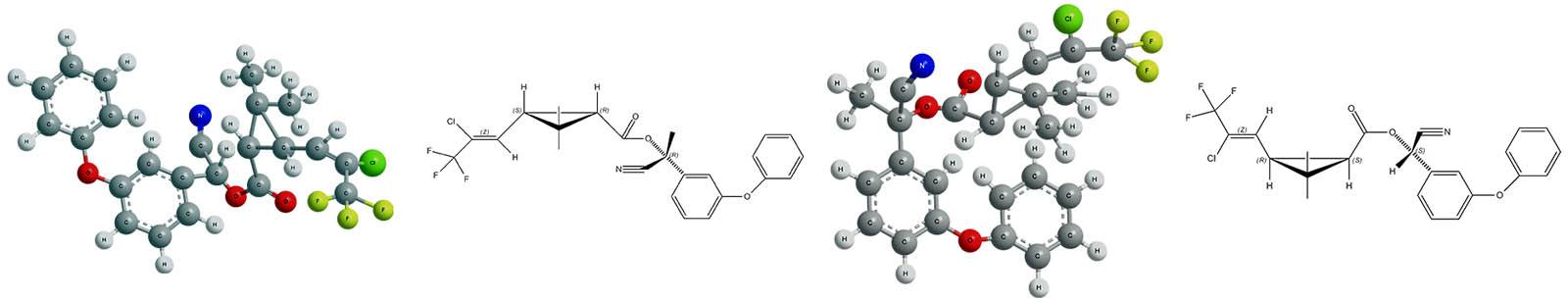 Химические формулы веществ, составляющих ДВ инсектицида Каратэ Зеон