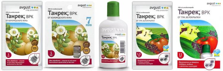 Продажные формы инсектицида Танрек