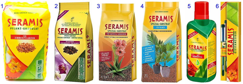 Состав комплекса Seramis для комнатных растений