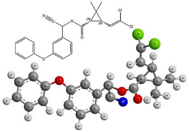 Химическая формула одного из изомеров циперметрина