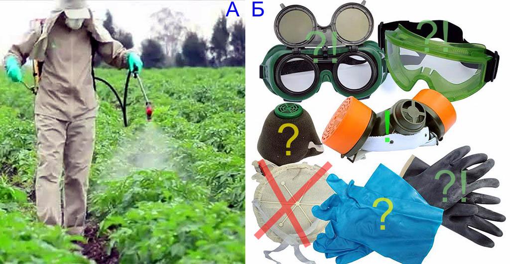 Средства индивидуальной защиты для работы с инсектицидом Корадо