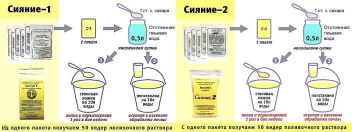Активация ЭМ препаратов Сияние 1 и Сияние 2
