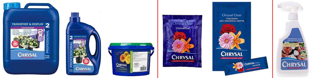 Препараты Кризал для срезанных цветов