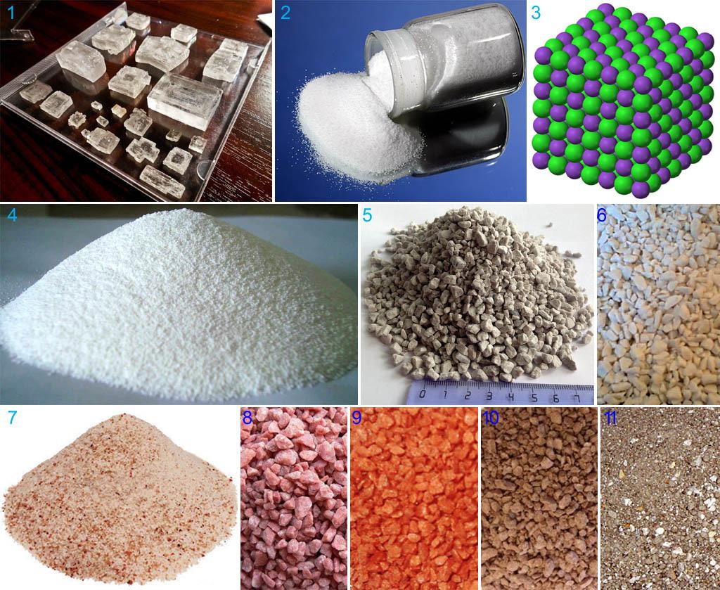 Хлорид калия и формы выпуска хлористого калия на удобрение
