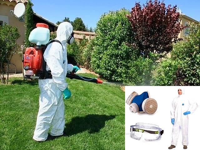 Средства индивидуальной защиты для работы с инсектицидом Эфория
