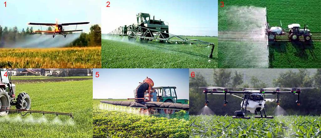Способы опрыскивания растений гербицидами