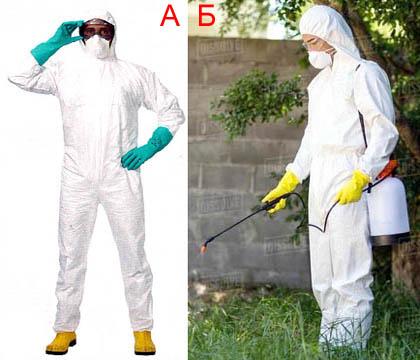 Средства индивидуальной защиты для работы с инсектицидами Клотиамет