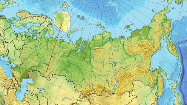 Расположение Селеукского фосфоритового месторождения на территории РФ.